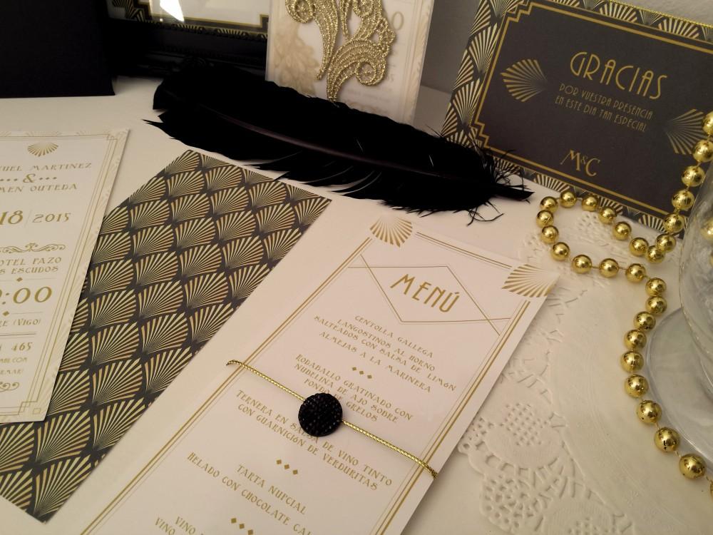 invitación de boda personalizada original retro