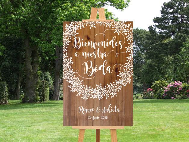 cartel de bienvenida, carteles para bodas